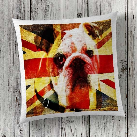 C49 Cushion Cover Sublimation Print Bulldog