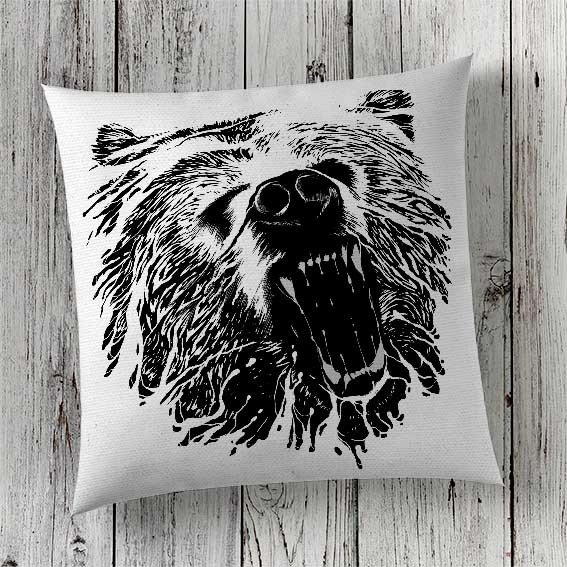 C50 Cushion Cover Sublimation Print Bear