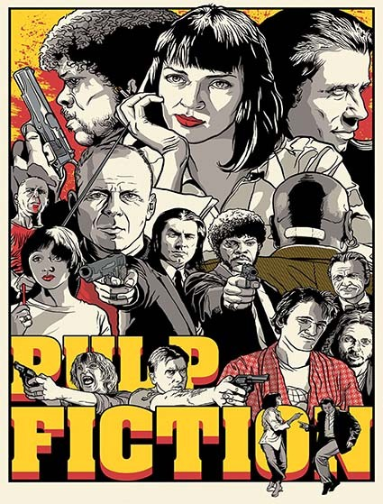 T518 Regular Fit Printed T-Shirt Pulp Fiction