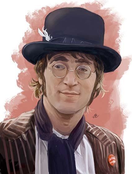 T519 Regular Fit Printed T-Shirt John Lennon