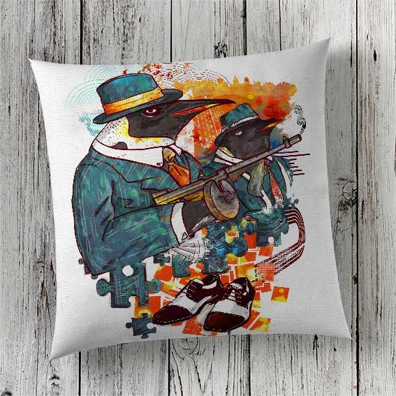 C53 Cushion Cover Sublimation Print Penguins