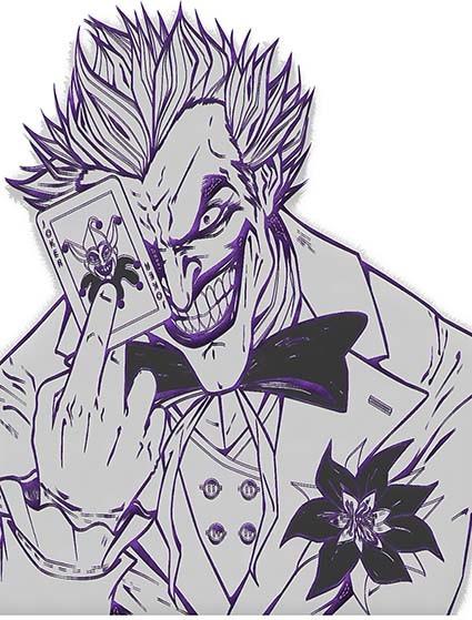 T54 Regular Fit Printed T-Shirt Joker