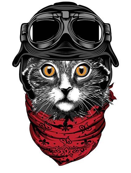 T560 Regular Fit Printed T-Shirt Cat