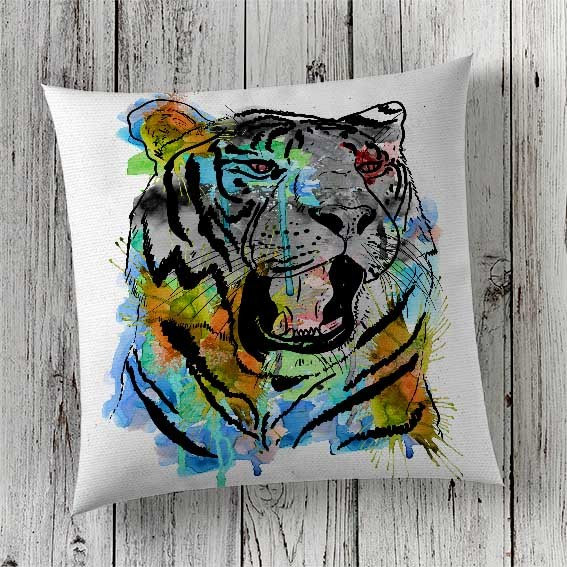 C56 Cushion Cover Sublimation Print Tiger
