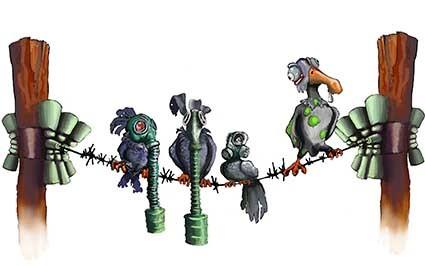 T60 Regular Fit Printed T-Shirt Gas Masked Birds