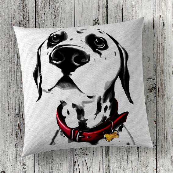 C61 Cushion Cover Sublimation Print Dalmation Dog