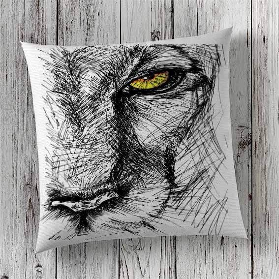 C62 Cushion Cover Sublimation Print Lion