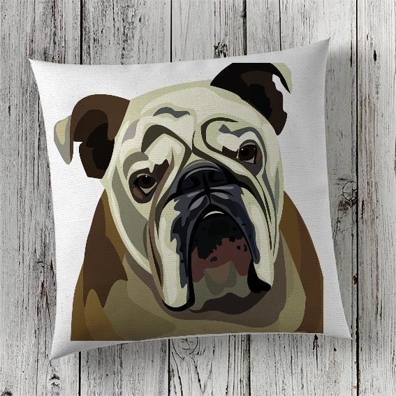 C65 Cushion Cover Sublimation Print Bulldog