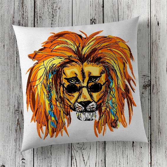 C66 Cushion Cover Sublimation Print Lion