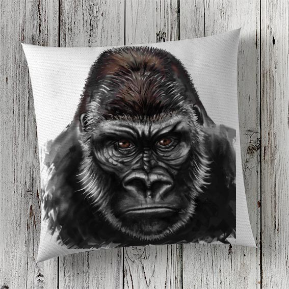 Cushion Cover Sublimation Print Gorilla