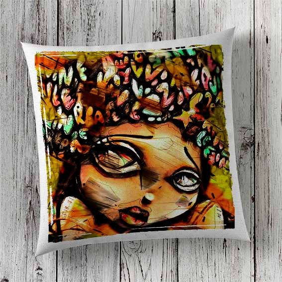 C6 Cushion Cover Sublimation Print Woman