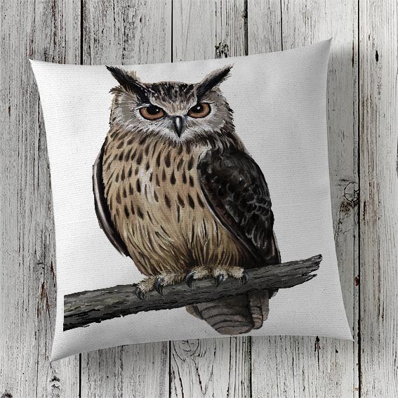 Cushion Cover Sublimation Print Owl