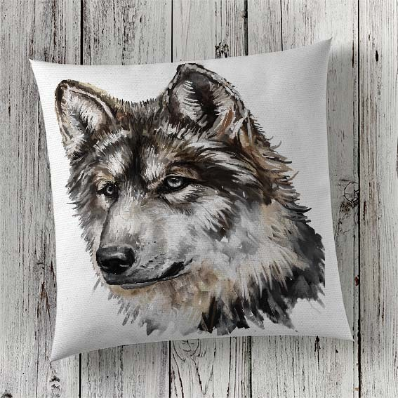 Cushion Cover Sublimation Print Wolf