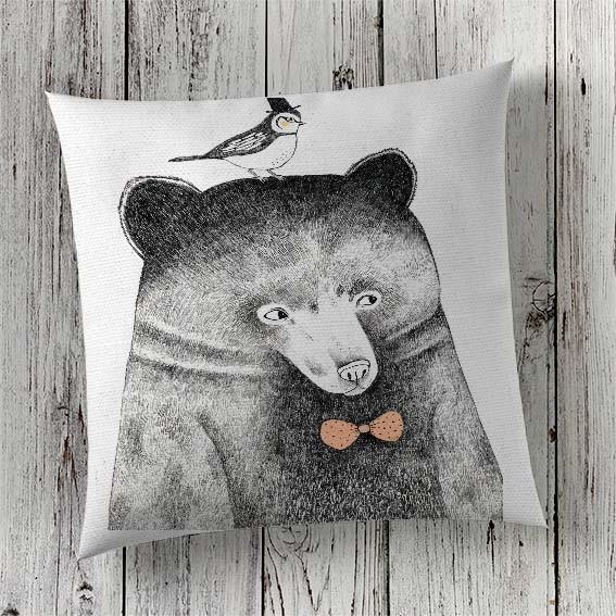 C73 Cushion Cover Sublimation Print Bear