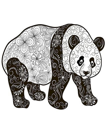 T752 Regular Fit Printed T-Shirt panda