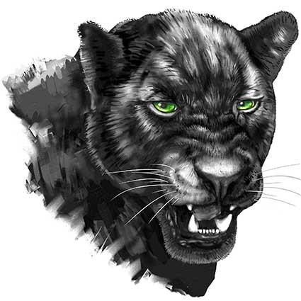T75 Regular Fit Printed T-Shirt Panther