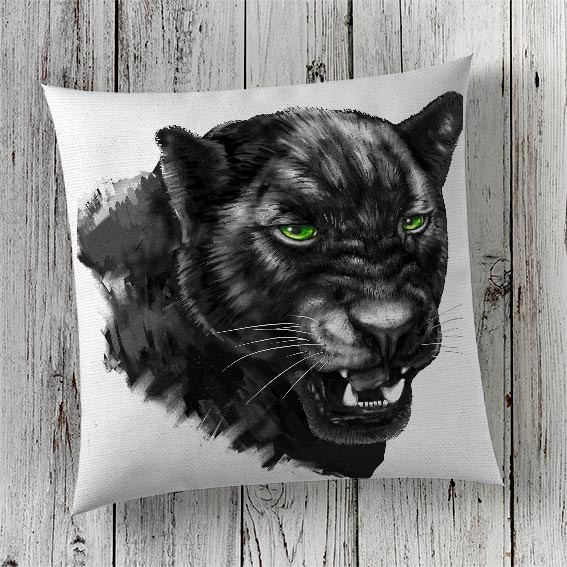 C75 Cushion Cover Sublimation Print Panther