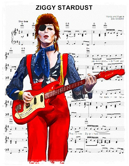 T760 Regular Fit Printed T-Shirt David Bowie