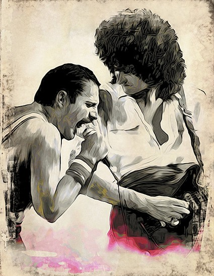 T761 Regular Fit Printed T-Shirt Freddie Mercury