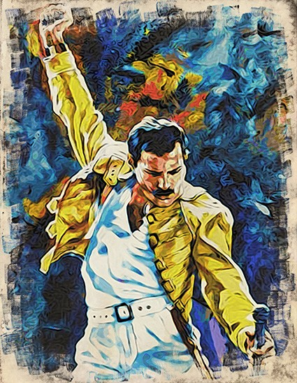 T770 Regular Fit Printed T-Shirt Freddie Mercury