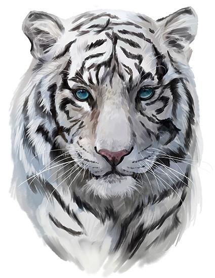 Black And White Tiger t shirt print London