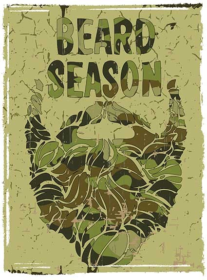 T78 Regular Fit Printed T-Shirt Beard Season
