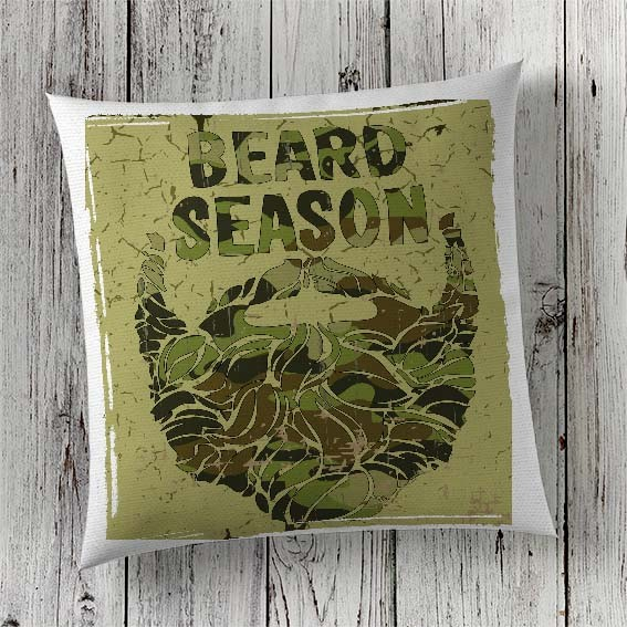 C78 Cushion Cover Sublimation Print Beard Season