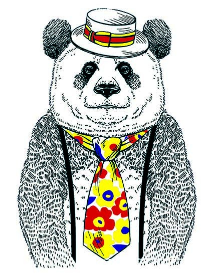 T81 Regular Fit Printed T-Shirt Panda