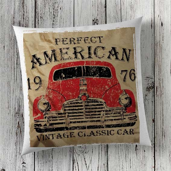 C82 Cushion Cover Sublimation Print American Classic Car