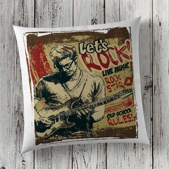 C84 Cushion Cover Sublimation Print Lets Rock
