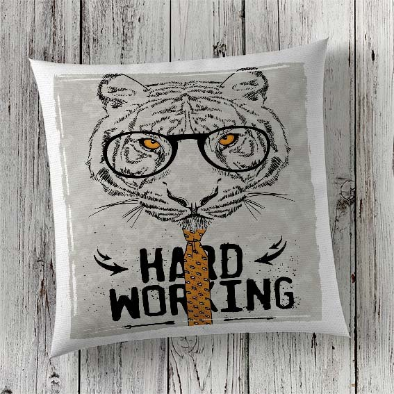 C88 Cushion Cover Sublimation Print Tiger