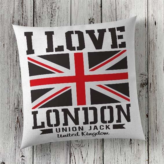C91 Cushion Cover Sublimation Print London Union Jack