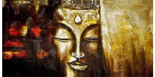 R1691 Buddha Canvas Wall Art Canvas Print