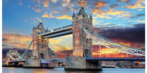R2123 Canvas Wall Art Canvas Print London Tower Bridge