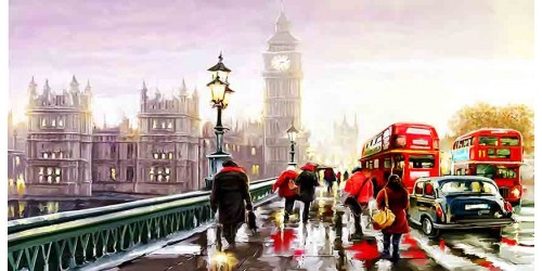 R2405 Canvas Wall Art Canvas Print London