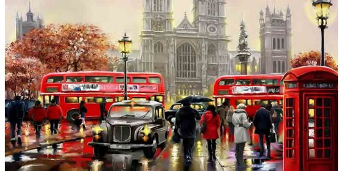 R2406 Canvas Wall Art Canvas Print London
