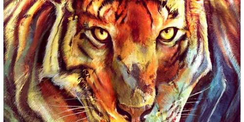 R2741 Canvas Wall Art Canvas Print Tiger