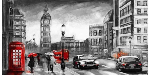 R3017 Canvas Wall Art Canvas Print London