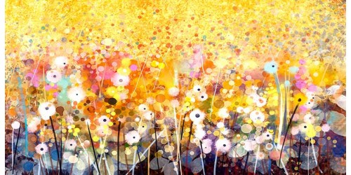 R3018 Flower Canvas Wall Art Canvas Print