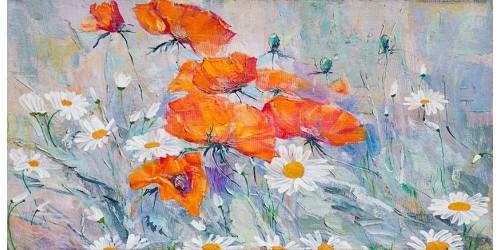 R3193 Flower Canvas Wall Art Canvas Print