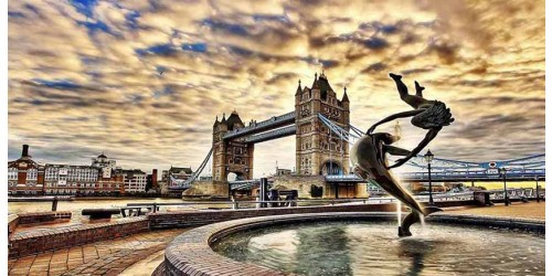 R952 London Tower Bridge Canvas Wall Art Canvas Print
