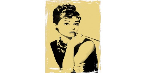 T104 Regular Fit Printed T-Shirt Audrey Hepburn