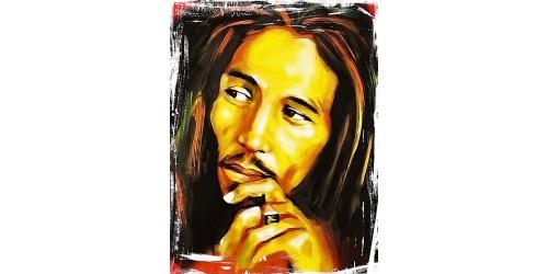 T113 Regular Fit Printed T-Shirt Bob Marley