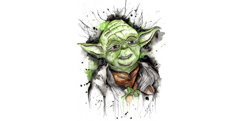 T12 Regular Fit Printed T-Shirt Yoda
