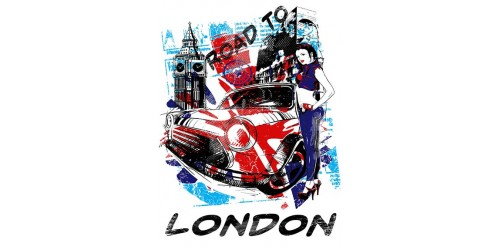 T03 Regular Fit Printed T-Shirt London Mini Cooper